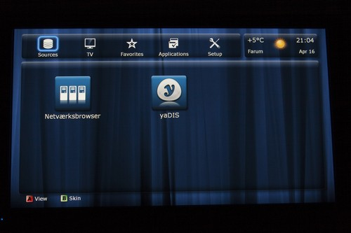 Dune HD TV interface