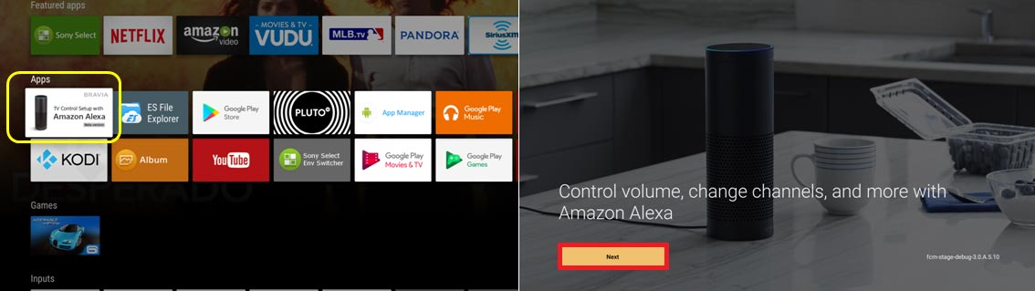 Alexa på Android TV