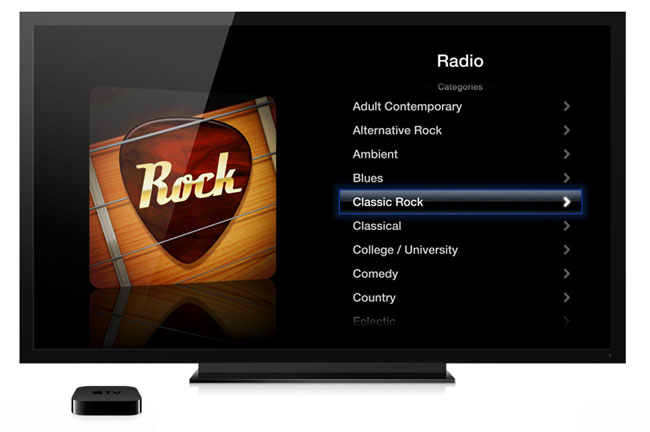 Internetradio p� Apple TV