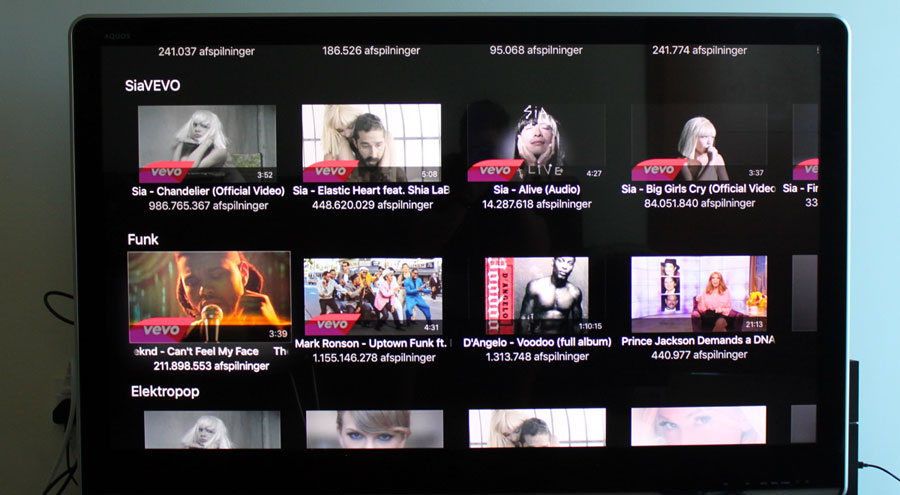 YouTube på Apple TV