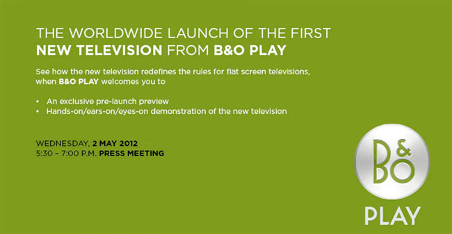 LB&O Play TV invitation