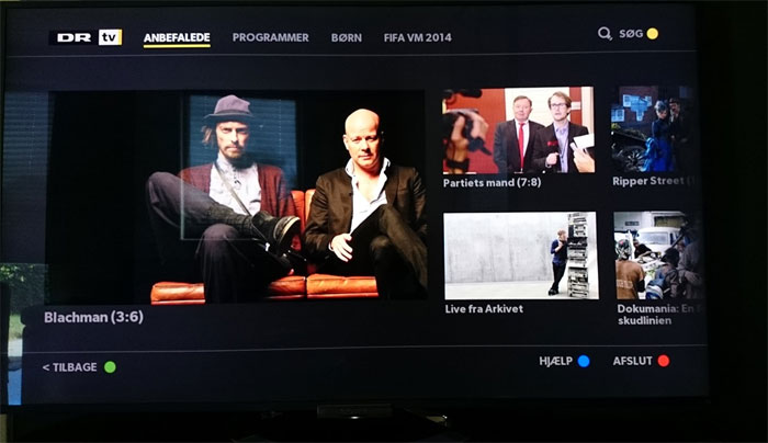 DR TV app på Sony Smart TV