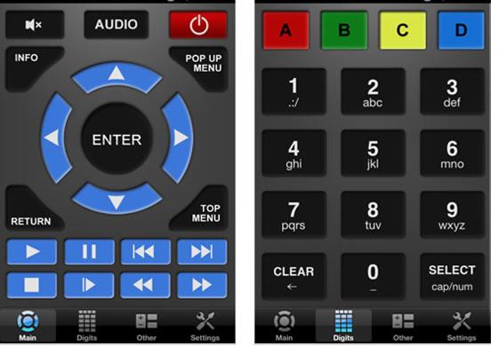 SmartPhone controls