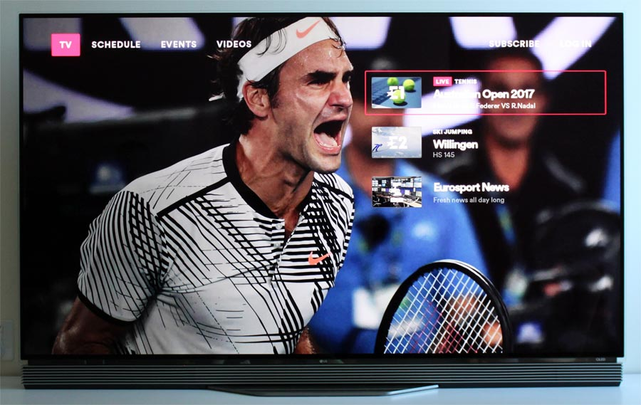 Eurosport Player Apple TV