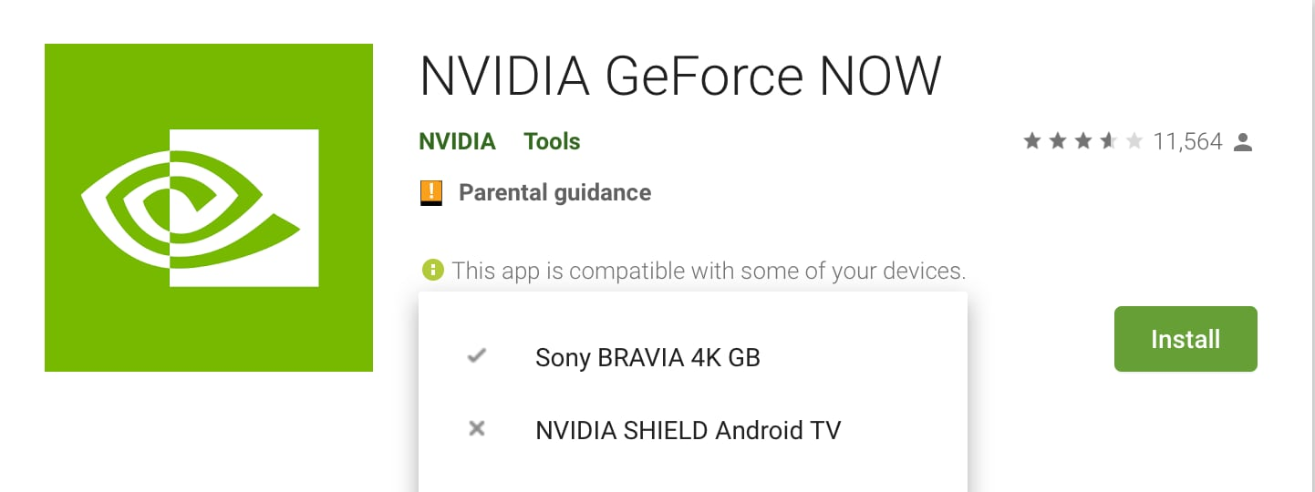 GeForce Now Android TV