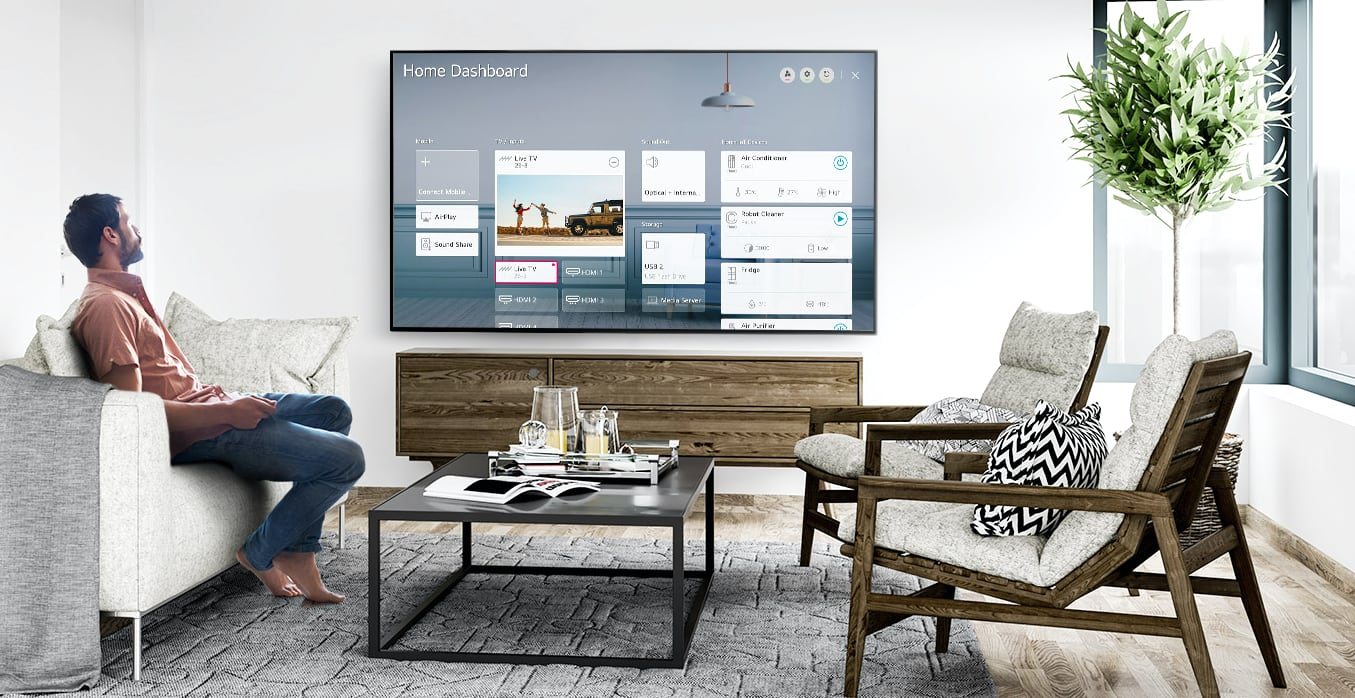 LG 2020 TV Dashboard