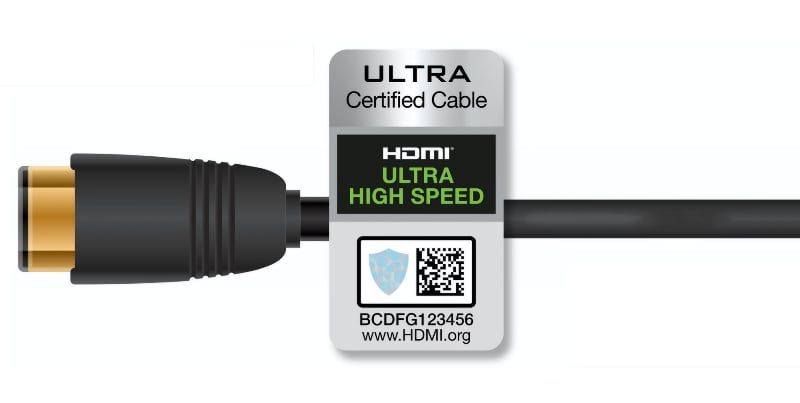 HDMI 2.1 Ultra High Speed certificeret logo