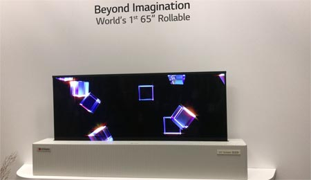 LG roll-up OLED