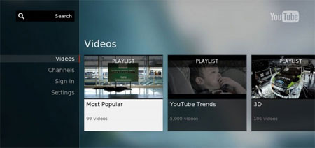 YouTube UI