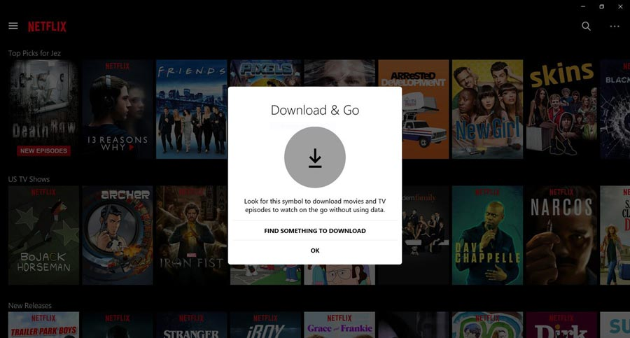 Netflix download Windows 10