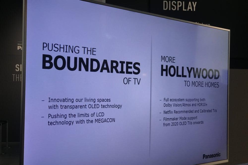 Filmmaker Mode in Panasonic 2020 OLED TVs
