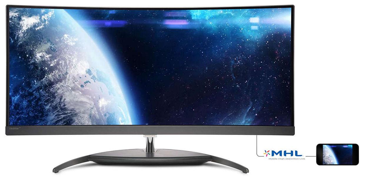 Tidssvarende Philips' første buede PC-skærm kommer snart til Europa - FlatpanelsDK YL-55