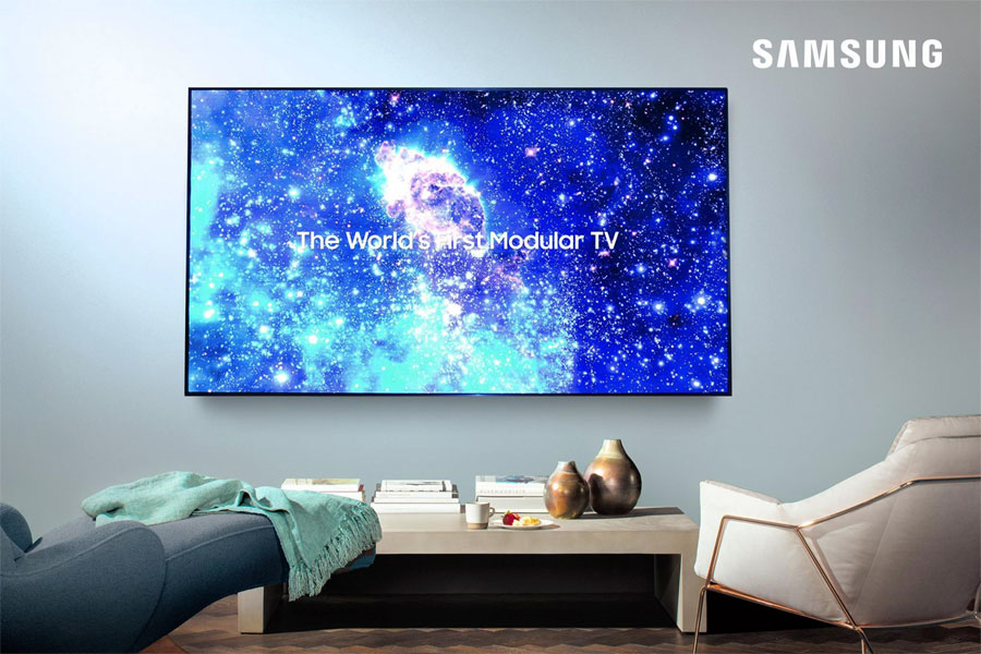 Samsung 75-tommer microLED TV
