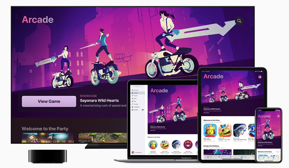 Apple Arcade på Apple TV