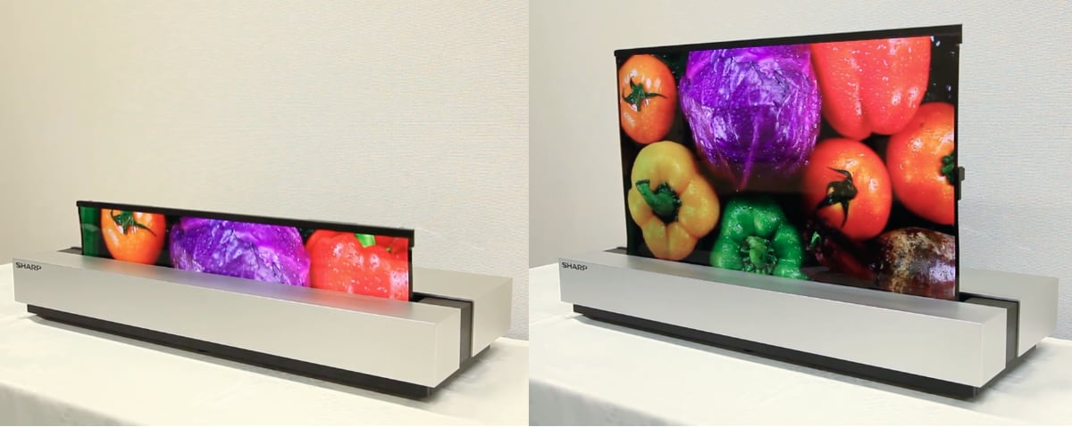 Sharp rollable 30-inch OLED