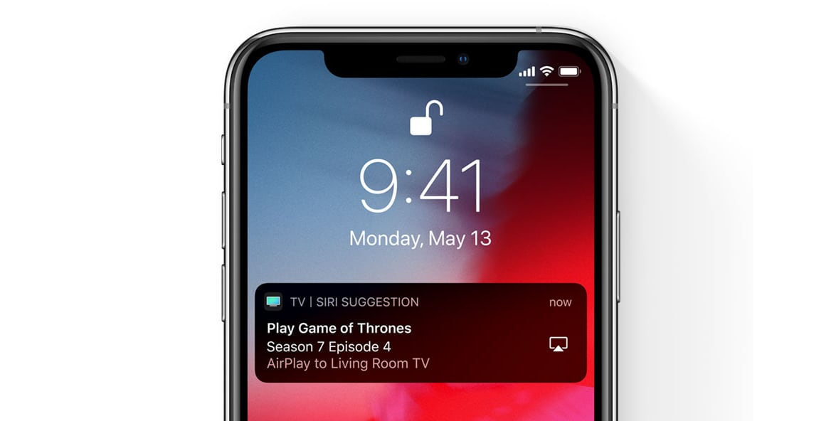 Siri suggestion to AirPlay TV