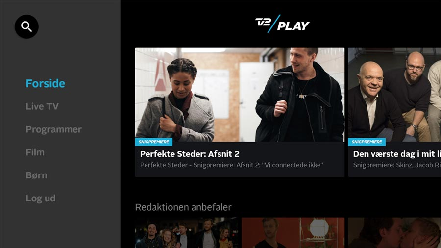 TV2 Play på Android TV