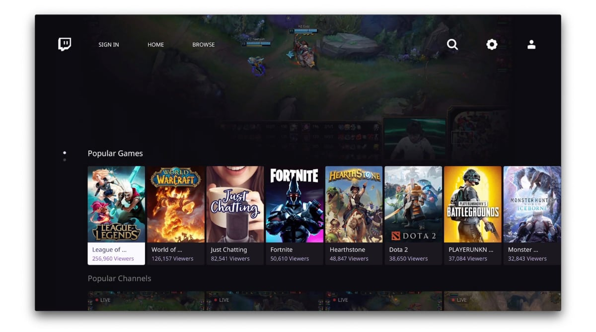 Twitch for Apple TV