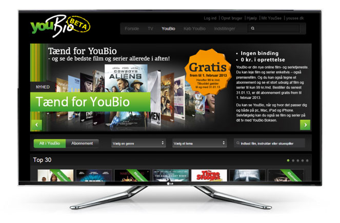 YouBio-app er klar på LGs Smart TV