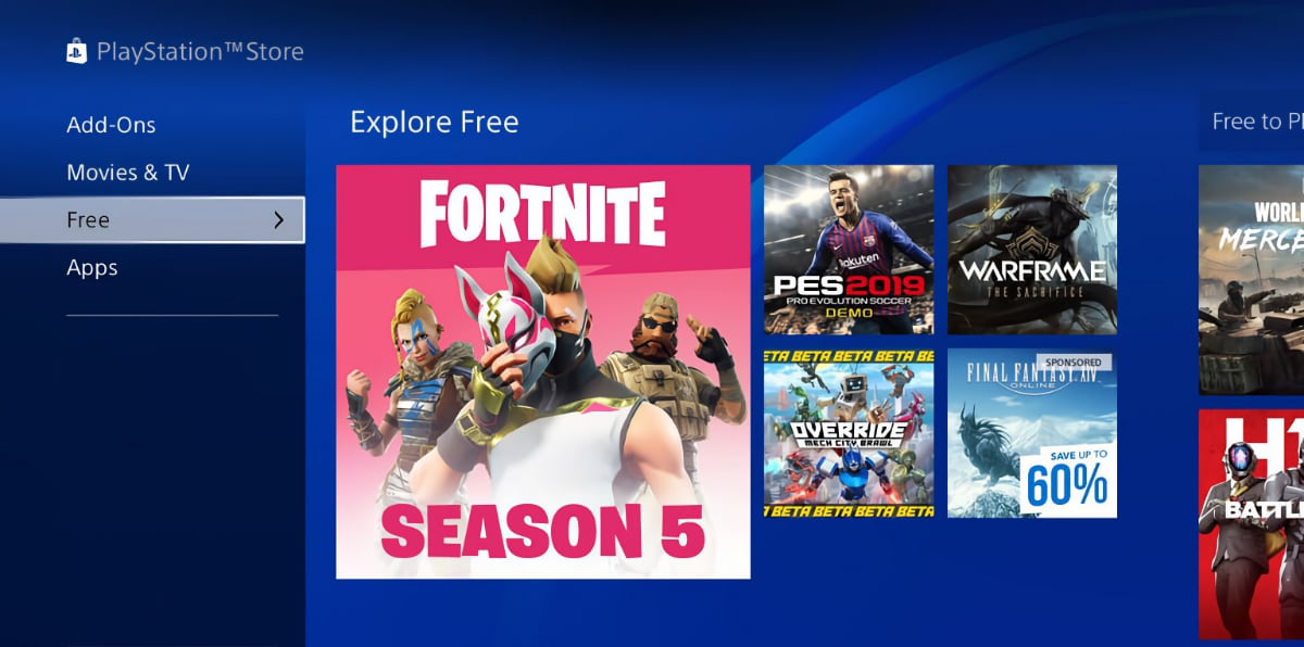 Fortnite PlayStation Store