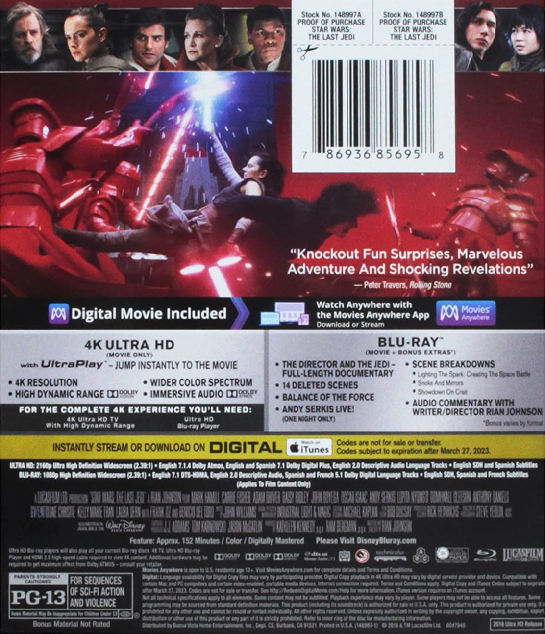 The Last Jedi UHD Blu-ray
